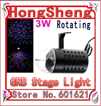 Hot sale 3 W AC85-265V RGB colorful tube light  Auto Rotating Stage DJ Lamp Party Disco stage effect light