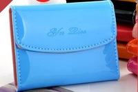 Free shipping 2013 newest Petent leather wallet credit card bank Holder wallet card package Factory directly