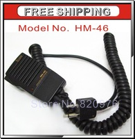 100% Brand New Speaker Mic handheld microphone HM-46 Speaker Mic For ICOM Radio IC-T2H T8A 2AT E90 W32A+Free Shipping