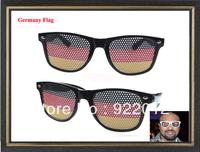 Germany Flag glasses Stickers logo glasses Fashion party glasses logo on lens glasses Stickers pinhole glasses
