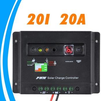 20A Solar panel charger Controller 12V solar controller Regulator LED indicator battery charging status 1 key setting timer