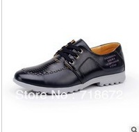 Free shipping 2014 new men,  Genuine Leather , routine, work, casual shoes, flats, wedding banquets, business, dress shoes,