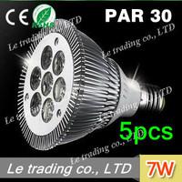 5pcs/lot 7W E27 PAR30 LED Bulb Lamp Light 85-256V  high power LEDs free shipping free shipping