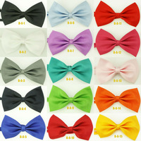 Lot Of 7 pcs Casual Man Boy Girl Tuxedo Classic Bowties Fashion Solid Party Neckwear Adjustable Unisex Mens Bow Tie Pre-Tied