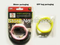 Blister packaging Fashion Wrist sport Watch\1 ATM waterproof anion silicone watch \Wrist watch wholesale