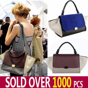 Designer Inspire Fashion 2013 Big Ears Smiley Swing Women Tricolor Celebrity Bag Discount Sale Promotional Unique Item *