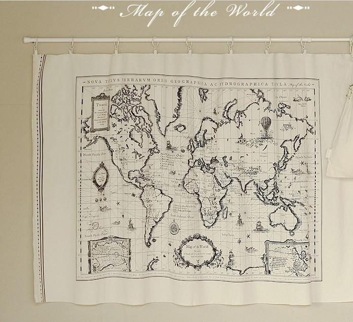 Online kopen wholesale vintage wereldkaart stof uit china vintage wereldkaart stof groothandel - Mand linnen huis van de wereld ...