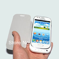 black white 2000mAh Cell phones cases Backup Power Battery charger Case For Samsung Galaxy S3 Mini i8190 with Flip Cover