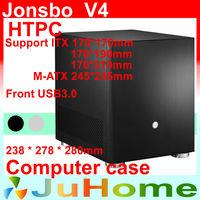HTPC case  MATX, 3.5'' HDD, USB3.0, 5Gbps, PCI Slot, all-aluminum 1.5mm, Genuine Jonsbo V4, other V2, V3+, V6, U1