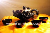 Home decor Chinese dragon tea set Chime stone teapot antique engraving crafts stone drinkware set  decorative tea set  giftbox