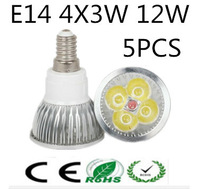 Free shipping 5PCS High power CREE 9W 12w 15w E14/ E27/GU5.3/MR16 LED Warm / Cool White 110V-220V  Spotlight Bulu Lamp Dimmable