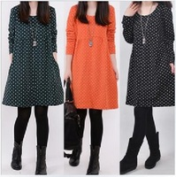 Free shipping,new arrival high quality casual dress,dot pattern elegant dress,Wholesale&Retail