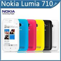 Nokia Lumia 710 cellphone Original Sabre WIFI 3G GPS 5MP 3.7''TouchScreen 8GB Internal storage Unlocked Mobile Phone Free ship