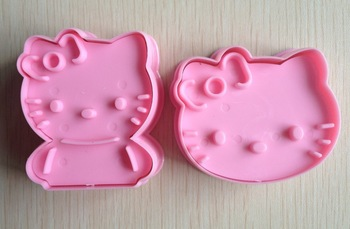 Free shipping 2PCS Pink  shape mold sugar Arts set Fondant Cake tools