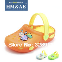 Childrens  sandals slippers 2013 summer  soft PVC kids shoes  lovely bees baby beach sandals
