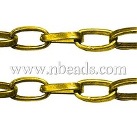 Stock Deals Iron Cross Chains-Goldenen,  Come On Reel,  3.8mm wide,  6.9mm long,  0.9mm thick,  100m/roll