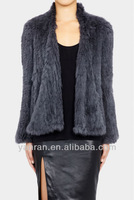 Free shipping YR-421 2013 New Euro Style Top Quality Genuine Rabbit Knitted Fur Coat Lots of colors