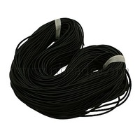 Stock Deals Synthetic Rubber Cord,  No Hole,  Black,  about 1mm in diameter,  700m/bundle