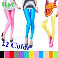 2013 Summer Candy Color Multicolor Leggings  Fluorescence Neon Shiny  Korean style Jeggings For Women #999