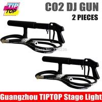 By DHL 2pcs/lot Handhold Co2 Gun Stage Light CO2 Machine Jet Stage Effect Handhold DJ Gun Co2 Jet  DJ Equipment Co2 Gun Dj