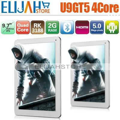 Original 9.7'' Cube U9GTV Quad Core Rockchip RK3188 Android 4.1 U9gtV2 2G Ram 16G Memory Bluetooth tablet pc U9gt5 Quad Core(China (Mainland))
