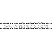 Stock Deals Iron Cross Chain,  Lead Free,  Black,  Come On Reel,  Size: Chain: about 3mm long,  2mm wide,  0.5mm thick