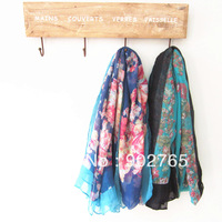 free shipping 10pcs/lot 100% cotton voile hot sale beautiful floral printed scarf hijab shawls new arrival pattern scarf