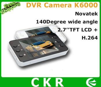 "Hot sale  Car Camera DVR   K6000 2.7"" Full HD 1080P 2.7'' LCD  with Night Vision Vehicle Video Recorder Dash Cam car black box"