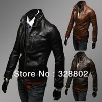 High quality men's clothing leather jacket mens jackets and coats ezio costume polo jacket clothes men leather jacket