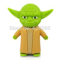 Free shipping! 2GB/4GB/8GB/16GB/32GB New arrival star war Yoda Darth Vader warrior model usb memory flash stick pen thumb drive