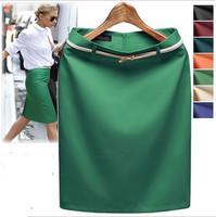2014 New American Apparel Fashion Short  Saia Formal Women Business Suit Pencil Skirt  Summer Vocational OL Skirts belt RD765