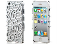 Free Shipping Stencil Artistic Flower Protective Case for iPhone 5      LIP-2427D