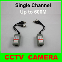 10 pairs/lot Single Channel UTP Passive Video, Audio, and Power Balun Transceiver for CCTV Camera