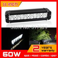 11 inch 60W CREE LED Work Light Bar Tractor 4x4 Offroad Fog light ATV LED Work Light External Light Save on 120w 240w