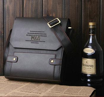 2014 famous brand genuine leather men bag leisure business  messenger bag for men  shoulder bag brown bags