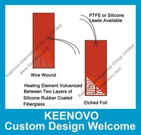 Keenovo Custom Designed Flexible Silicone Heater/Heating/Thermal Mat/Pad/Blanket/Element,High Quality Guaranteed,Free Shipping
