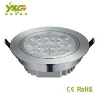 High brightness AC 110v 220v 12w high power  Aluminium recessed led downlight  2pcs/lot warm & cool white wholesale