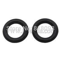 Stock Deals Rubber Connectors,  Donut,  Black,  21x2mm