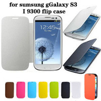 Free Shipping Original Battery Housing Flip PU Leather Back Case Cover for Samsung Galaxy S3 SIII S 3 i9300 9300