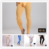 manview thin thermal underwear men underpants brand fitting sleepwear tight gauze sexy red beige long johns trousers M L XL