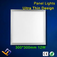 Led panel lights led integrated ceiling led panel light 300x300mm products 12W ultra-thin LED Flat lighting luminarias para sala