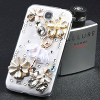 For Samsung galaxy Note2 S4 S3 i9500 i9300 N7100 iphone 5 5s 5c 4 4s ballet girl bling diamond rhinestone luxury Case1 piece