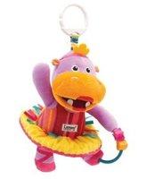 2014 Free Shipping 1 psc retail pony shape Lamaze musical toys/Educational newborn Baby toys/nowborn Baby rattle toy
