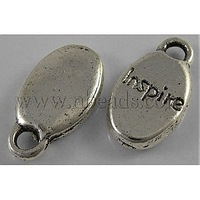 Closeout Tibetan Silver Pendant,  Lead Free,  Cadmium Free and Nickel Free,  15.5mm long,  8.5mm wide,  3mm thick hole: 2mm