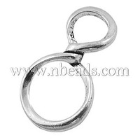 Tibetan Style Pendants,    Lead Free,   Cadmium Free and Nickel Free,    8 shape,    Antique Silver,    about 30.5mm long