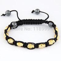 Shamballa Skull Bracelets Skull Beads Bracelets Mens Shamballa Bracelet For Man Wholesale Free Shipping