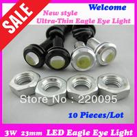 3 W 23mm Super Bright Large Lens Ultra-Thin Car Eagle eye light is LED  Backup Tail lights  Reversing light, Four-Color Optional