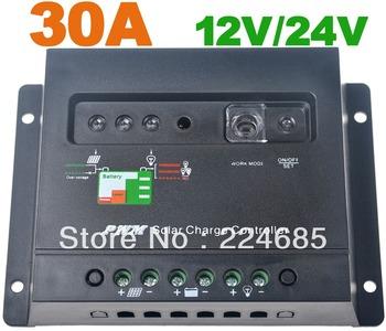 30A Solar regulador de la carga 12 V / 24VDC AUTO batería PWM panel Solar del cargador 30A