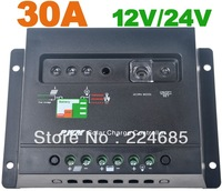 30A Solar Charge Controller Regulator 12V/24VDC AUTO Battery charging PWM Solar panel charger 30A