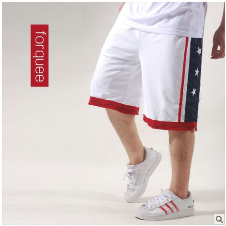 USA American Team Men Shorts,Basketball Pants,Summer Sports shorts plus size,Free Shipping(China (Mainland))